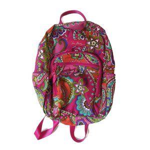 Vera Bradley Floral Paisley Pink Campus Backpack